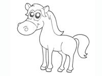 coloriage en ligne le cheval