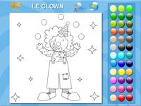 coloriage en ligne un clown