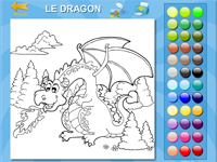 coloriage en ligne un dragon
