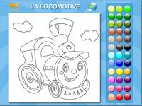 coloriage en ligne une locomotive