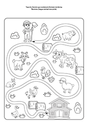Labyrinthe facile, maternelle PS