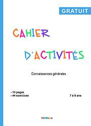 Cahier D Activites Culture Generale 7 A 9 Ans Tidou Fr