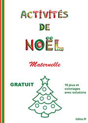 Cahier Dactivités De Noël Gratuit Maternelle Tidoufr