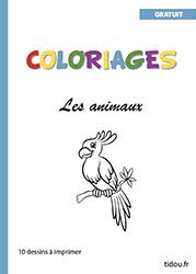 Cahier De 10 Pages De Coloriages D Animaux Tidou Fr