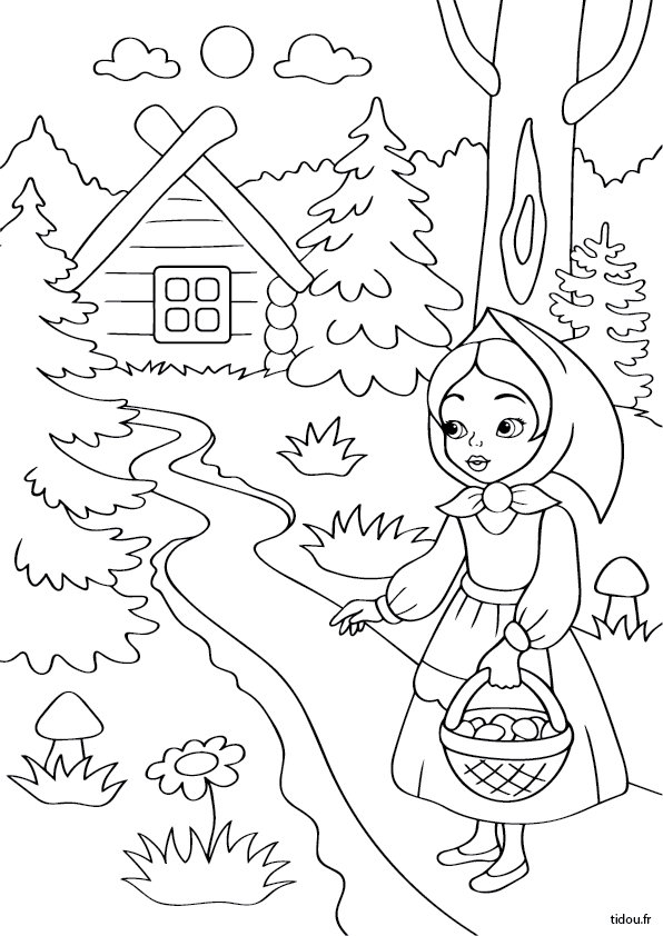 Le Petit Chaperon Rouge Dans La Forêt Tidoufr