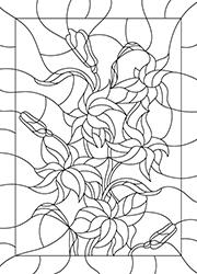 Coloriage Vitrail à Imprimer Un Bouquet De Fleurs Tidou Fr