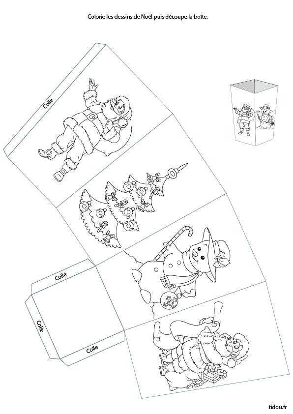 Boîte De Noël à Imprimer Et à Découper Tidou Fr