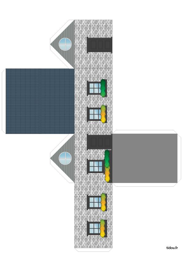 Maison Simple En Papier à Découper Tidoufr