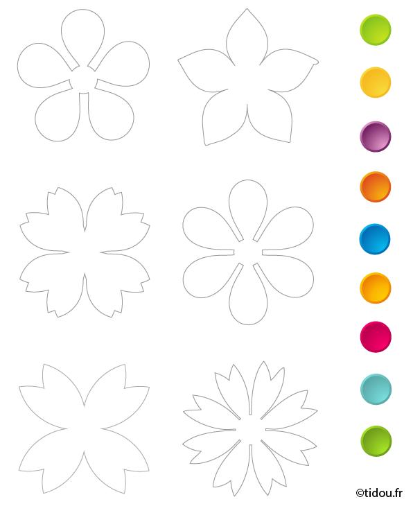 Fleurs A Imprimer Et Decouper - OHBQ.info