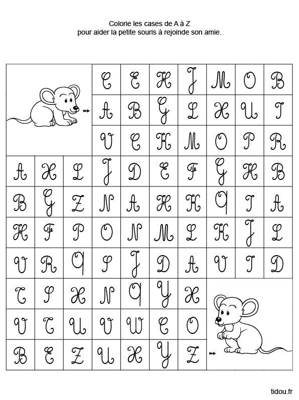 Lettre alphabet majuscule cursive imprimer photos alphabet collections - Grande lettre alphabet a imprimer ...