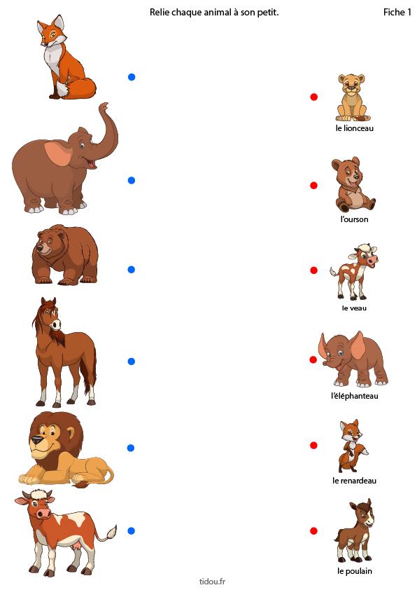 Les animaux et leurs petits 1 - Images animaux a imprimer ...
