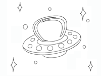 Coloriages en ligne - Soucoupe volante dessin ...